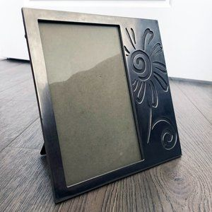 Metal Picture Frame with Flower